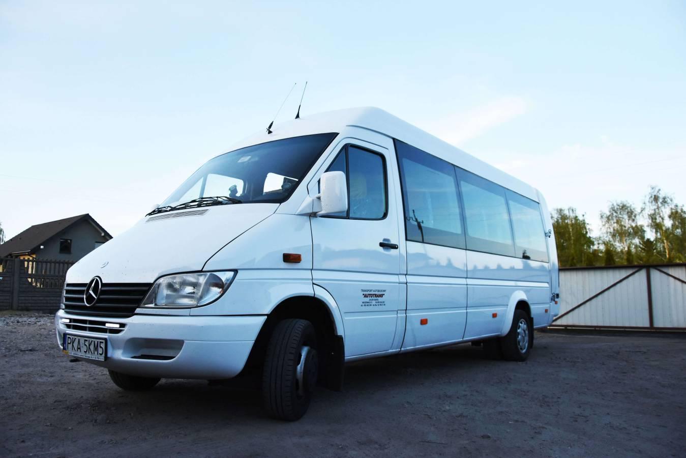 Kalisz Wynajem autokarów bus na wynajem mercedes sprinter